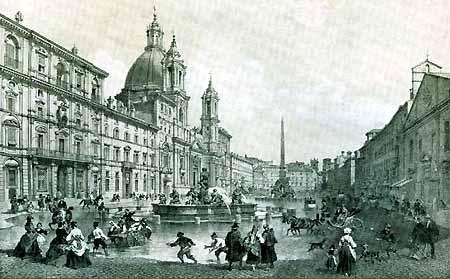 Giochi d'acqua in Piazza Navona